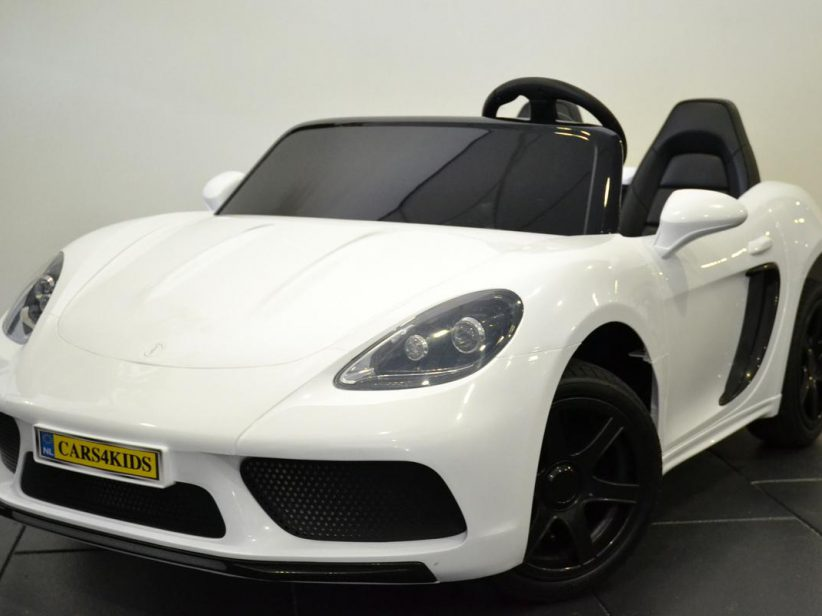 Porsche look kinderauto 24 volt voor 2 kinderen vanaf 6 jaar Wit