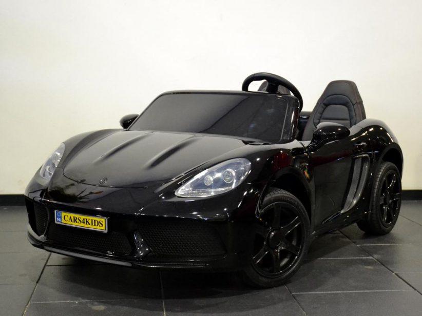 Porsche look kinderauto 24 volt voor 2 kinderen vanaf 6 jaar Zwart