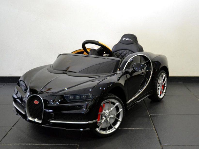 Bugatti Chiron kinderauto 12V 2.4G RC Zwart