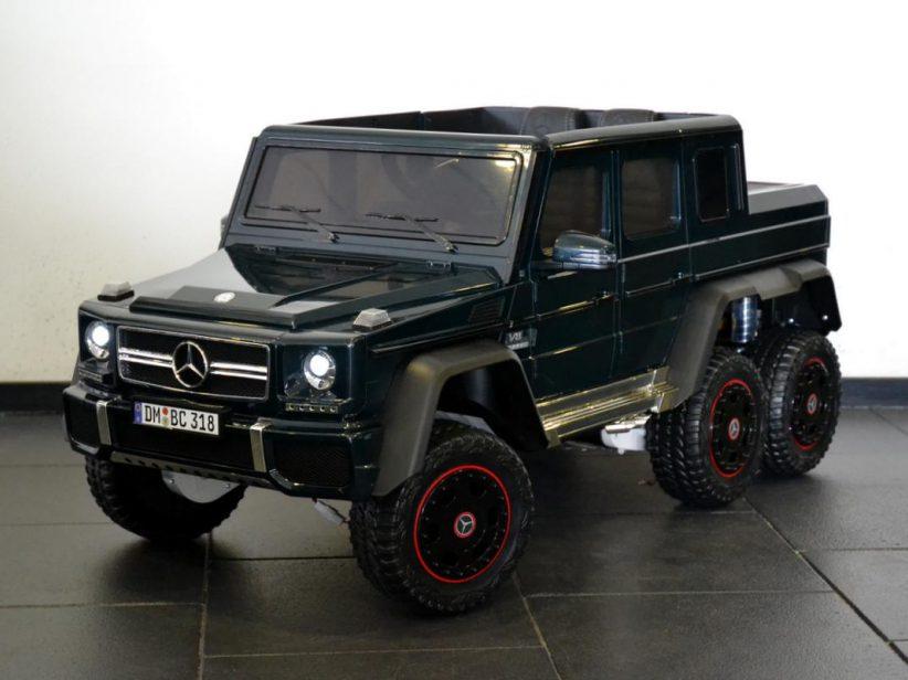 Mercedes-Benz G63 AMG 6x6 kinderauto 12V 2.4G RC en TV scherm Groen