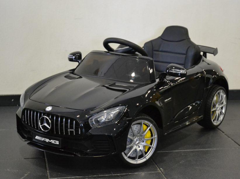 Mercedes GTR elektrische kinderauto 12V 2.4G RC Zwart metallic