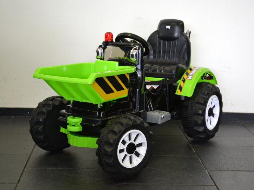 Tractor elektrisch speelgoed met kiepkar 12 volt Groen