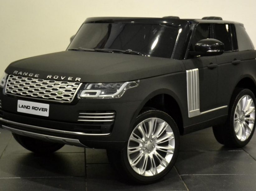 Range Rover Voque 2 pers. 2x12V kinderauto met TV scherm Matzwart