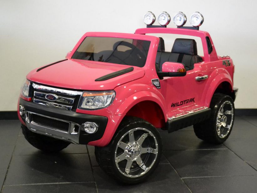 Ford Ranger 2 persoons elektrische kinderspeelgoed auto 12V 2.4G RC Roze