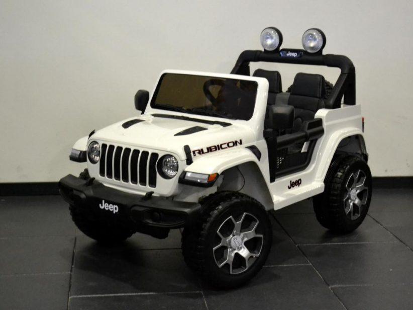 Jeep Wrangler Rubicon kinderauto elektrisch 4x4 2x12V 2.4G RC Wit