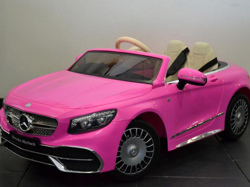 Mercedes Maybach speelgoed auto kinder elektrisch S650 12V 2.4G RC Roze