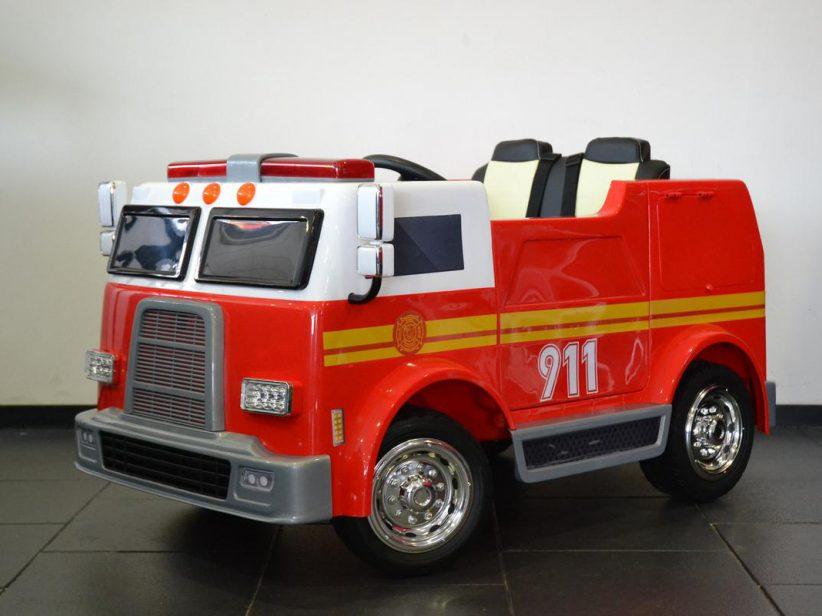 Brandweertruck Elektrische Kinder Vrachtwagen 2 persoons 12V 2.4G RC