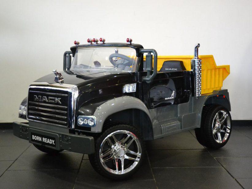 Mack Truck 2 peroons elektrische kinderauto 12V 2.4GRC Zwart