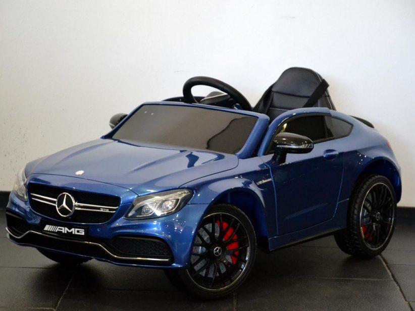 Mercedes C63s AMG Coupe elektrische kinderauto 12V 2.4G RC Blauw