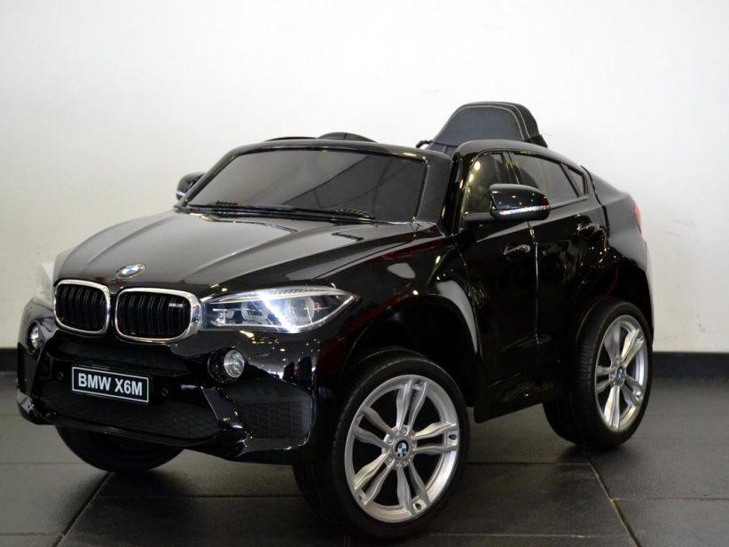 Bmw X6M Elektrische Kinderauto 1 persoons 12V 2.4G Zwart