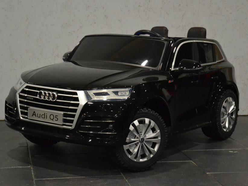 Audi Q5 Accu Kinderauto 2 persoons 2.4G 4WD en MP4 TV Zwart