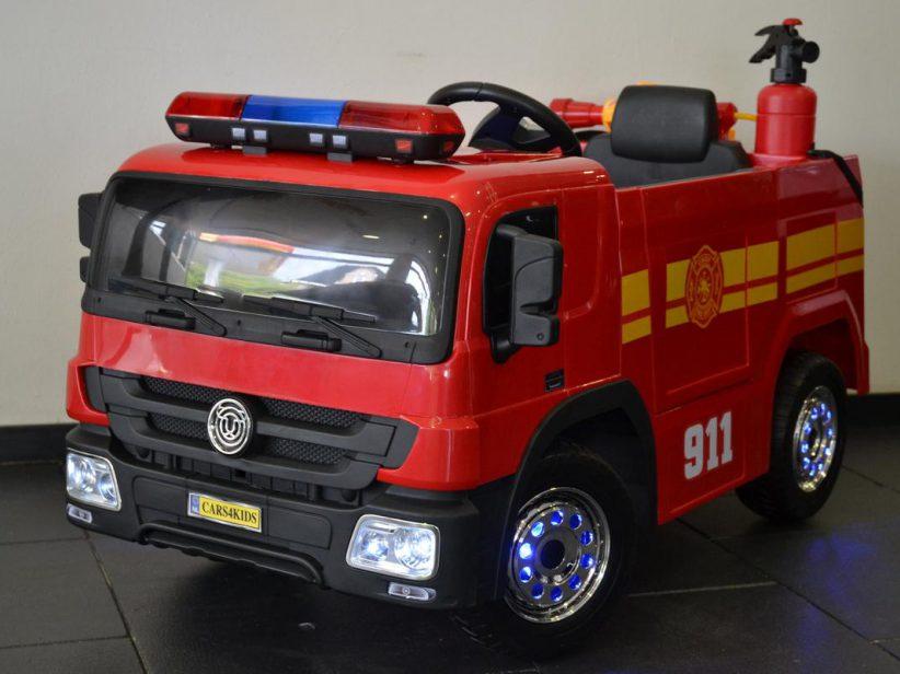 Brandweer Truck 12V kinder accu auto 2.4G RC