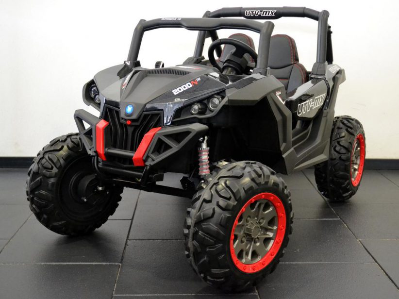 Buggy 2 persoons elektrische kinderauto 4wd 2x12V 2.4G RC Carbon