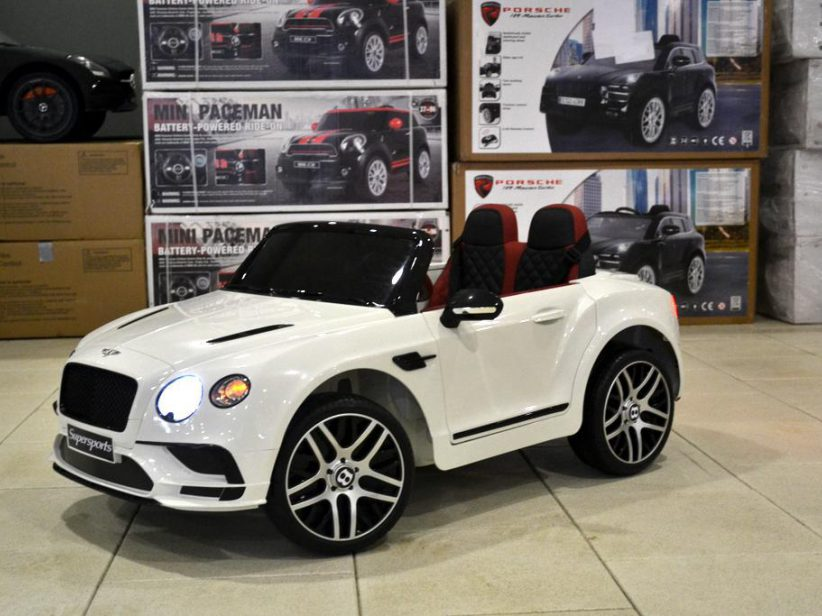 Bentley Continental GT accu kinderauto 12V 2.4G RC Wit 2 persoons