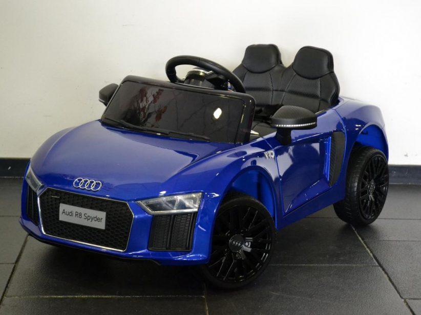 Audi R8 Spyder Kinder Auto 12V 2,4G RC Blauw