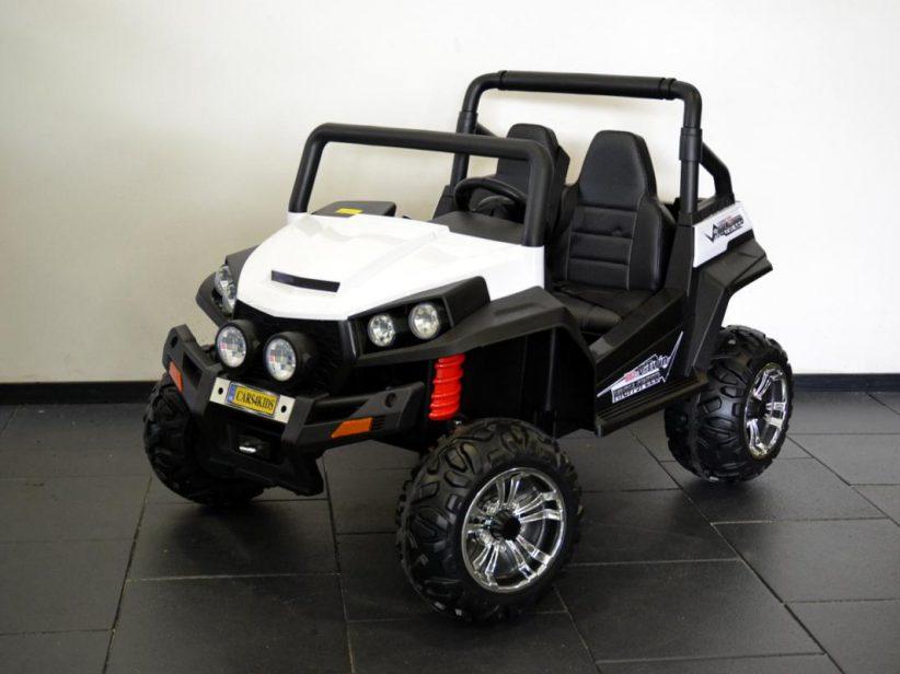 V Twin 2 persoons elektrische kinderjeep 4WD 2X12V 2.4G RC Wit