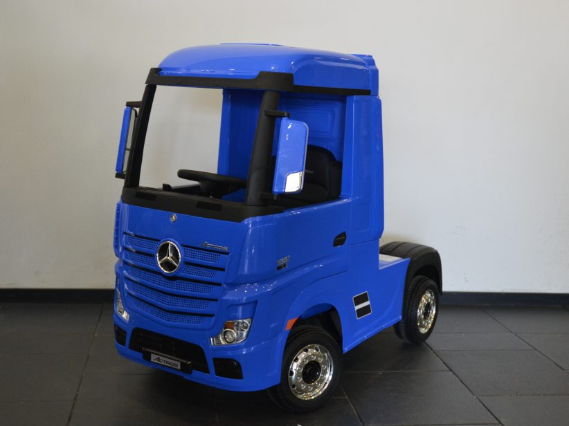 Mercedes Actros elektrische kinderspeelgoed Vrachtwagen 2x12V 2.4G RC Blauw