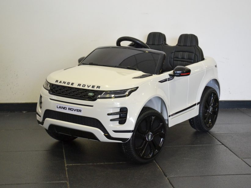 Range Rover Evoque Elektrische Kinderauto 4×4 met MP4 TV 12V 2.4G RC Wit