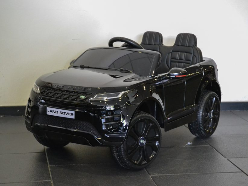 Range Rover Evoque Accu Kinderauto 4x4 met MP4 TV 12V 2.4G RC Zwart