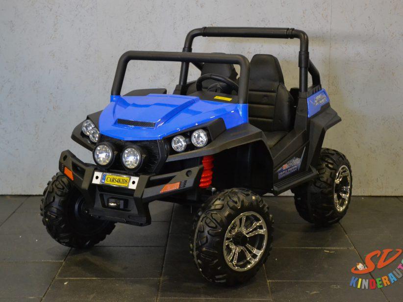 V Twin 2 persoons elektrische kinderjeep 4WD 2X12V 2.4G RC Blauw