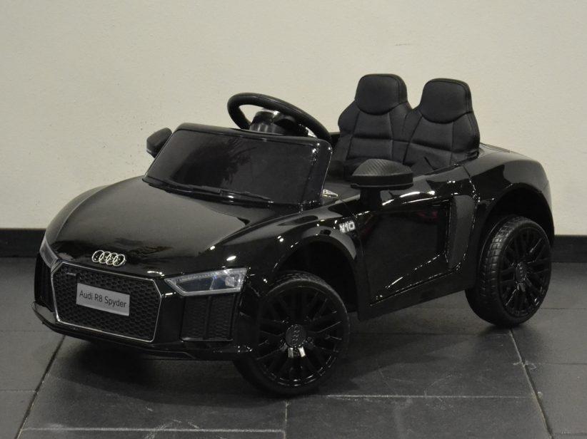 Audi R8 Spyder Speelgoed Accu Auto 12V 2.4G RC Zwart