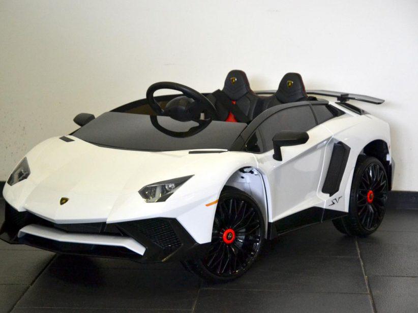 Lamborghini Aventador SV speelgoedauto elektrische kinderauto 12V 2.4G RC Wit