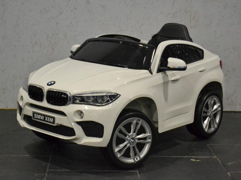 Bmw X6M Elektrische Kinderauto 1 persoons 12V 2.4G Wit