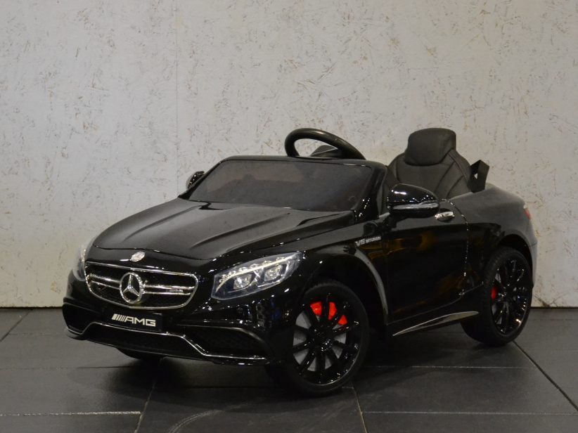 Mercedes-Benz S63 AMG kinderauto 12V 2.4G RC Zwart metallic