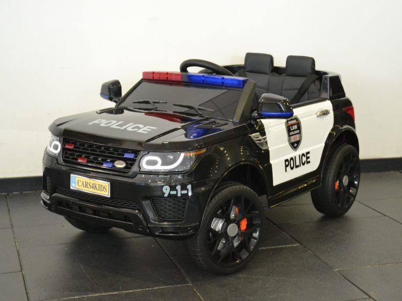 Politieauto elektrische kinderjeep 12V 2.4 G RC 1 persoons