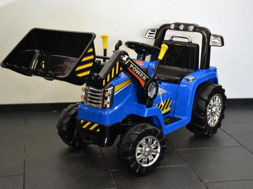 Tractor Met Kiepbak Elektrisch 12 Volt Accu met 2.4G Afstandsbediening Blauw