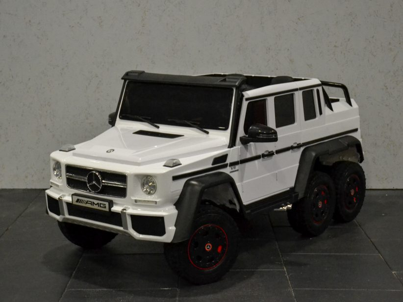Mercedes G63 AMG 6x6 kinderauto 2 persoons 2.4G RC 12V Wit