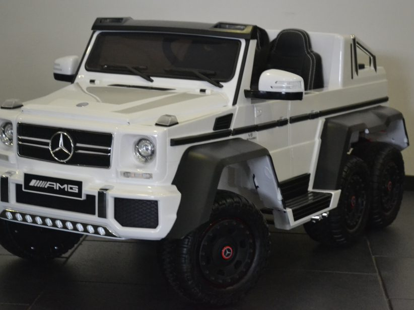 Mercedes G63 AMG 6x6 duozit kinder speelgoed 12V 2.4G RC Wit