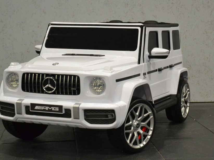 Mercedes G63 AMG accu kinderauto 12V 2.4G RC 2 persoons Wit