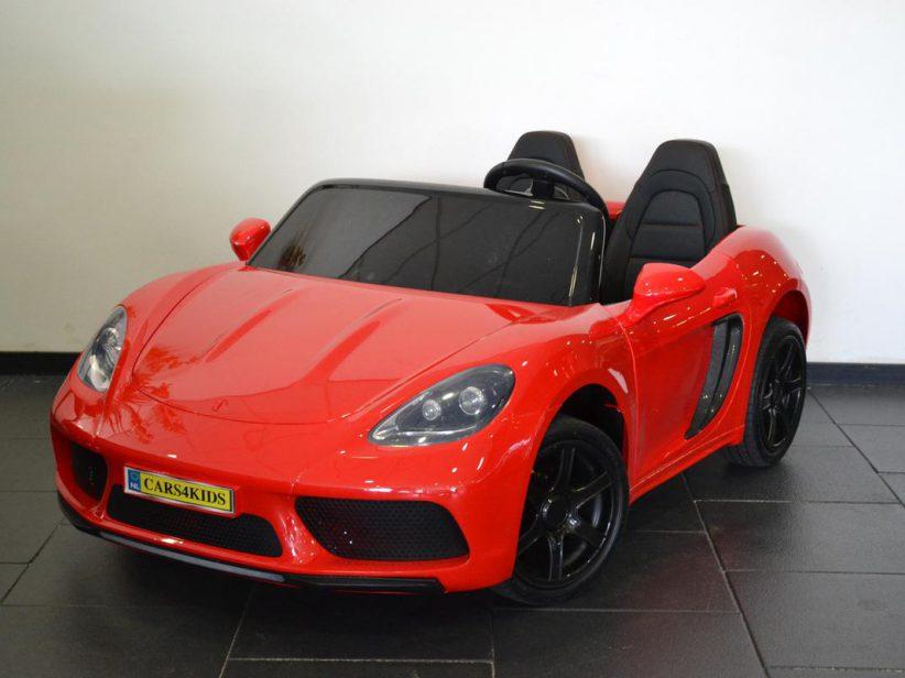 Porsche look kinderauto 24 volt voor 2 kinderen vanaf 6 jaar Rood