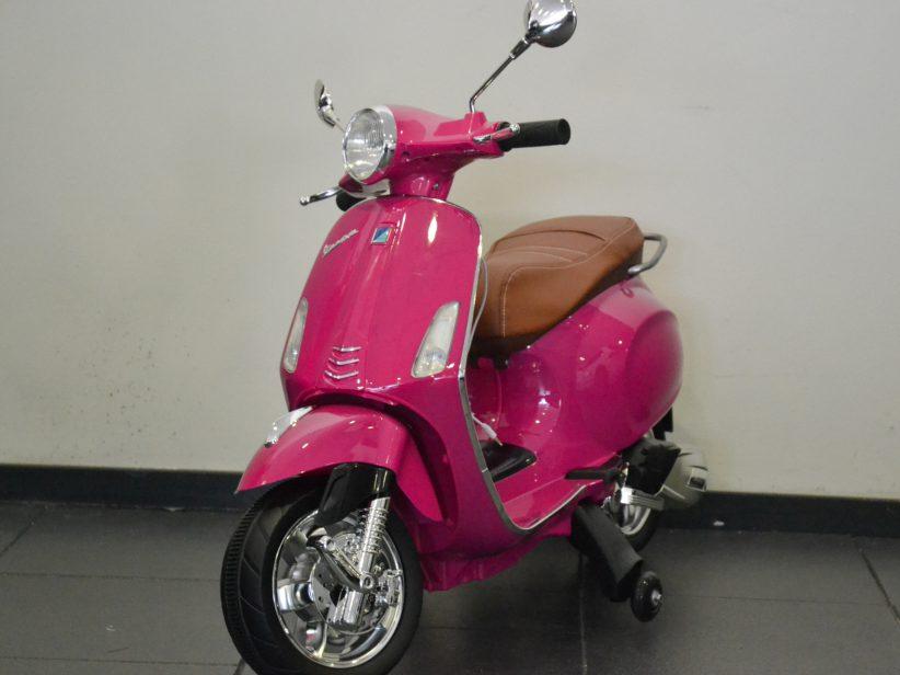 Vespa Primavera 12V Kinder Scooter Roze Metallic