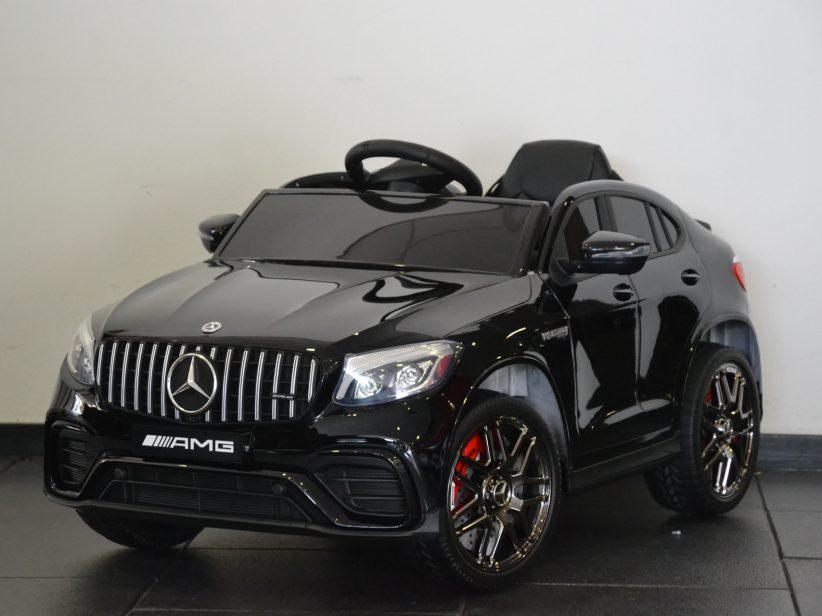 Mercedes GLC63 AMG elektrische kinderauto 12V 2.4G RC met MP4 TV Zwart