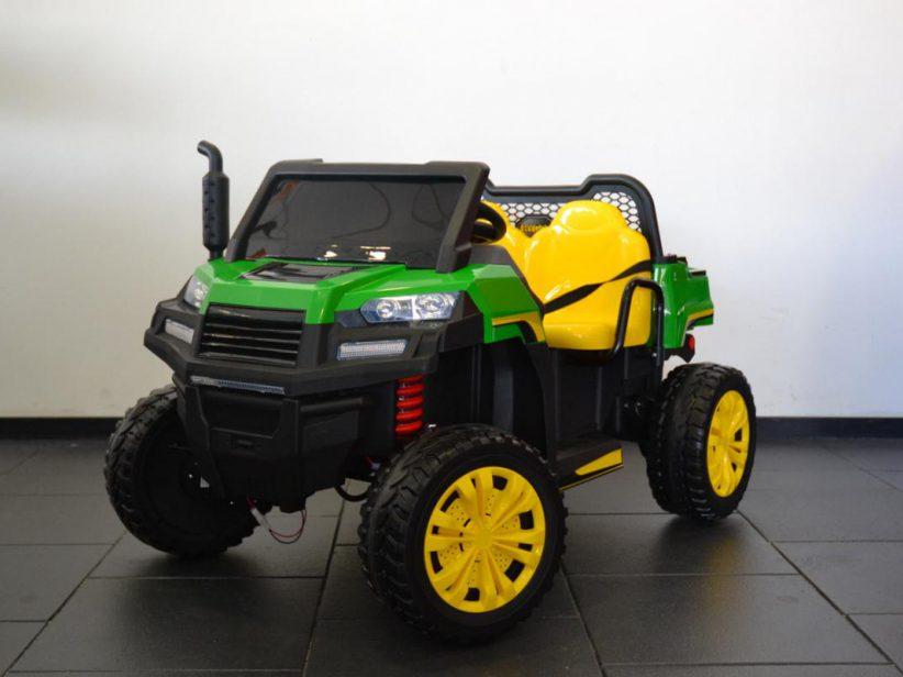 Farmertruck Elektrisch kinder speelgoed 4x4 2 persoons 4wd 12V 2.4G RC Groen