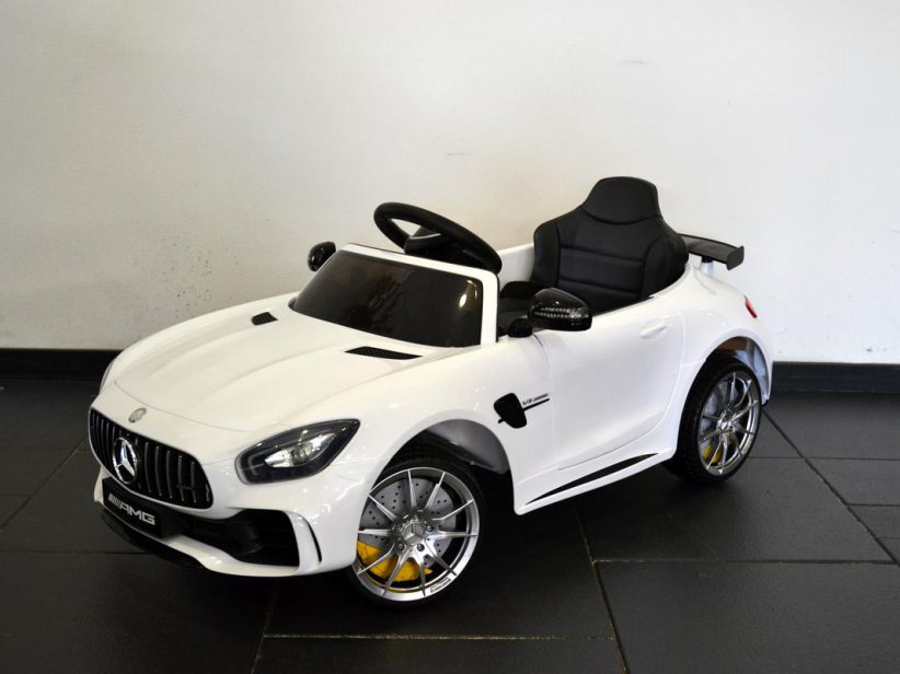 Mercedes GTR kinderspeelgoed elektrische kinderauto 12V 2.4G RC Wit