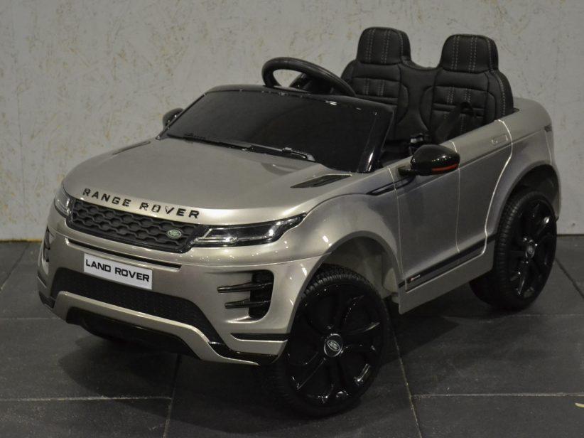 Range Rover Evoque Speelgoed Accu Kinderauto 4×4 met MP4 TV 12V 2.4G RC Grijs Metallic