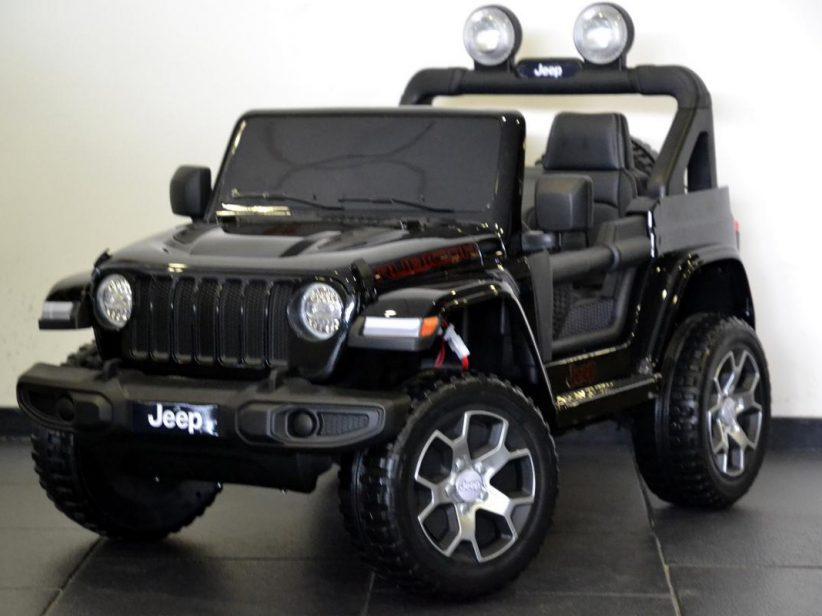 Jeep Wrangler Rubicon kinderauto elektrisch 4x4 2x12V 2.4G RC Zwart