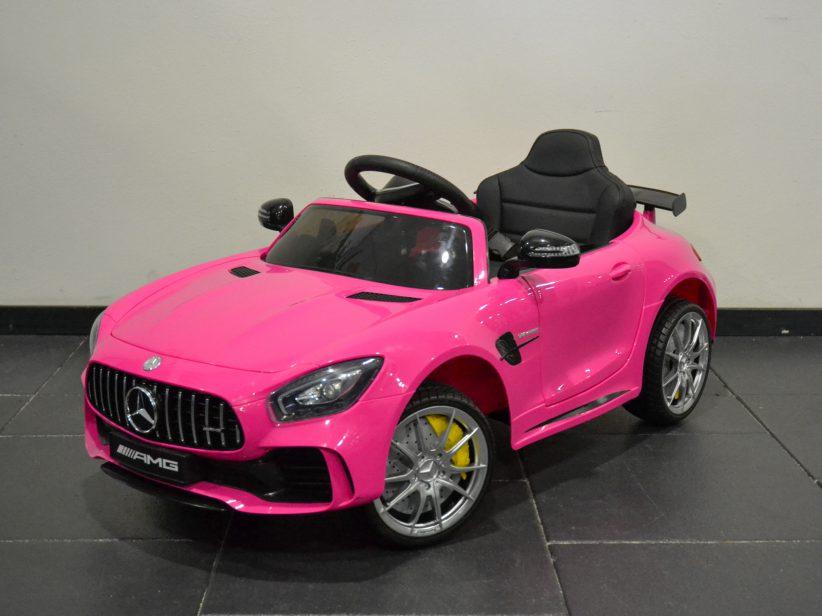 Mercedes GTR kinderspeelgoed elektrische kinderauto 12V 2.4G RC Roze