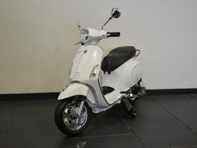 Vespa Primavera elektrische kinderscooter 12V Wit