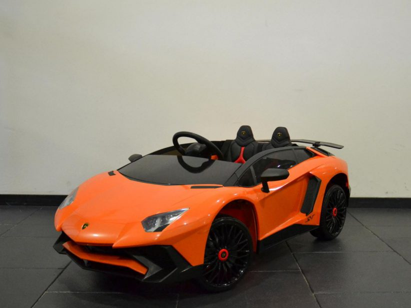 Lamborghini Aventador SV speelgoedauto elektrische kinderauto 12V 2.4G RC Oranje