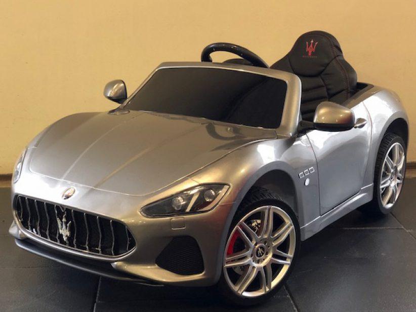 Maserati Grancabrio elektrische kinderauto 12V 2.4G RC Grijs metallic