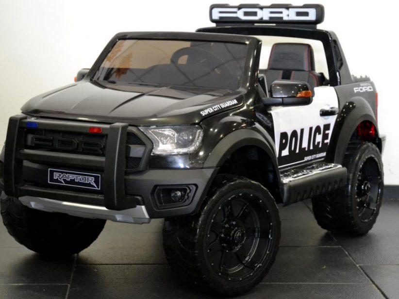 Ford Ranger Politieauto 2 persoons kinderspeelgoed auto elektrisch 12V 2.4G RC Zwart