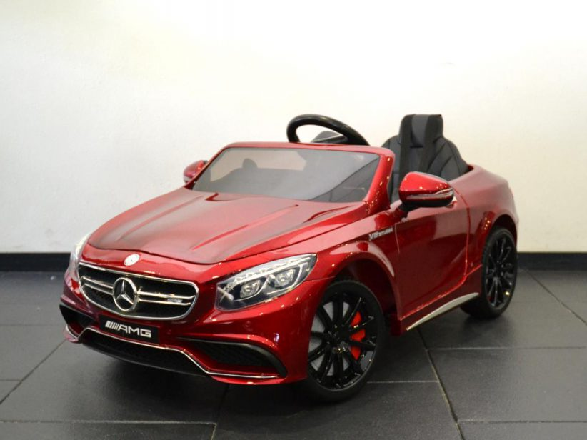 Mercedes-Benz S63 AMG kinderauto 12V 2.4G RC Rood Metallic