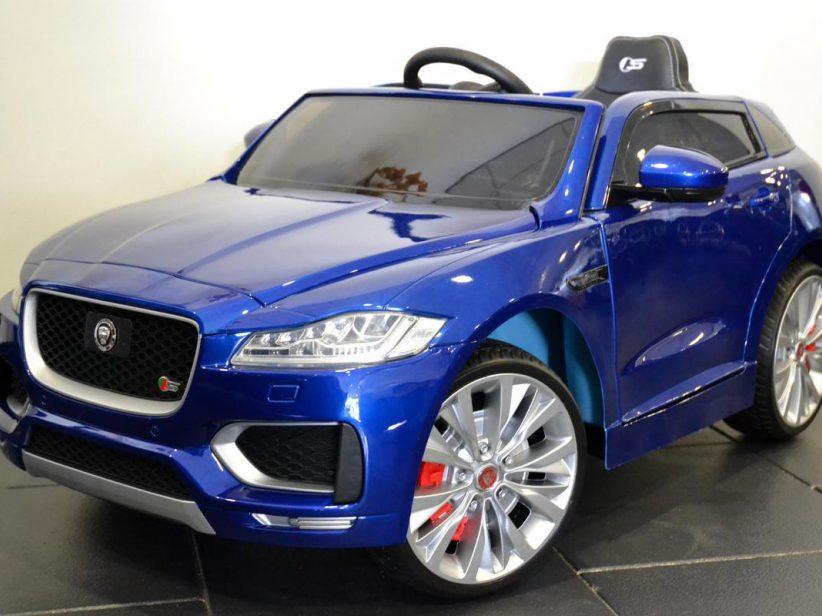 Jaguar F-Pace kinder accu auto 12V 2.4G RC Blauw Metallic
