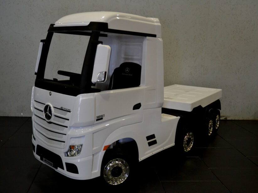 Mercedes Actros met trailer elektrische kinderspeelgoed Vrachtwagen 2x12V 2.4G RC Wit