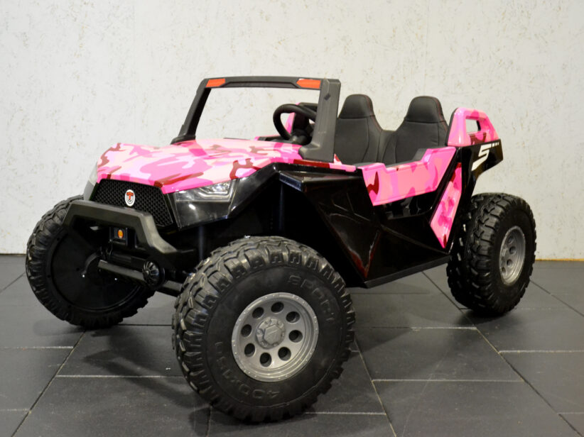 Power Buggy 2 Persoons Kinderauto 24V Accu Camouflage Roze 4x4