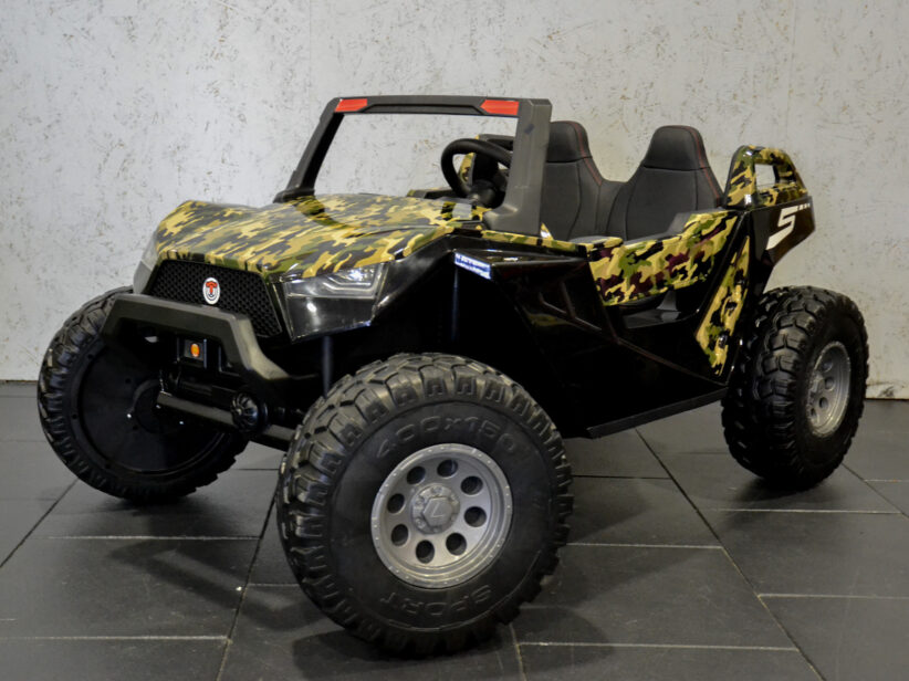 Power Buggy 2 Persoons Kinderauto 24V Accu Camouflage Groen 4x4
